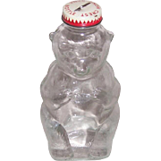 1950's Snow Crest Bear Glass Bottle Bank