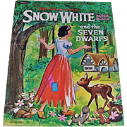 1960's Walt Disney's Snow White and the Seven Dwarfs Paper Dolls by Whitman