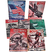 Seven 1940's The Open Road for Boys Magazines