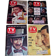 Four 1950's-60's TV Guides Featuring Stars of Pallidin, Annie Get Your Gun, and Peter Gun