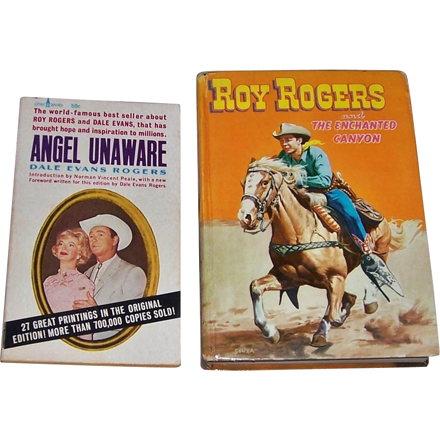 Roy Rogers and the Enchanted Canyon Book and Angel Unaware Paperback Book by Dale Evans