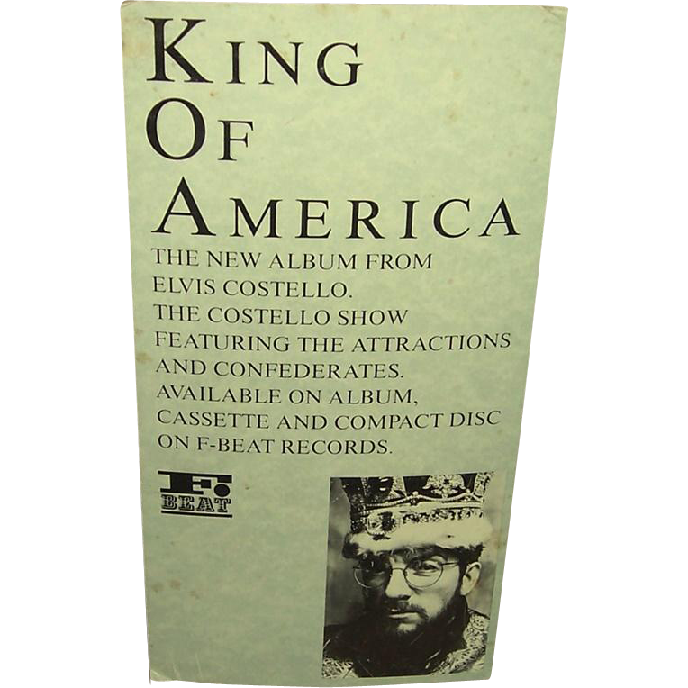 1986 Elvis Costello King of America Standee