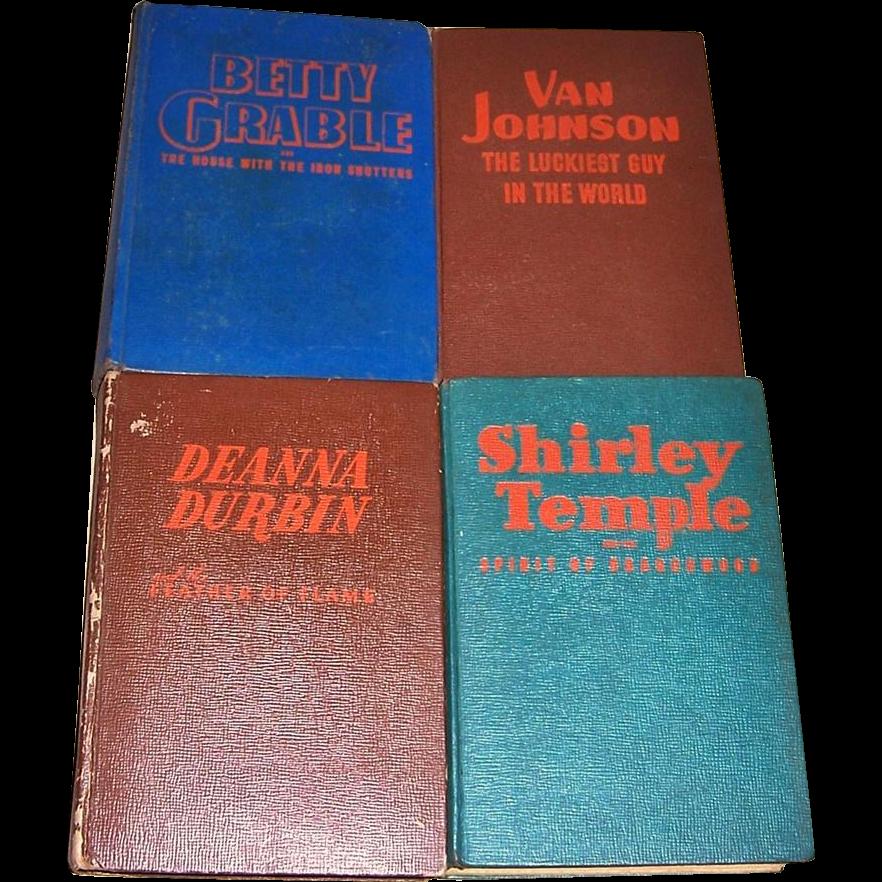 1940's Shirley Temple, Deanna Durbin, Betty Grable, and Van Johnson Mystery Books