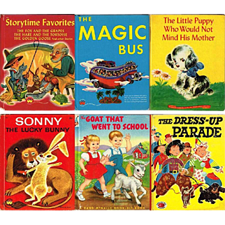 Six 1940's and 1950's Children's Books