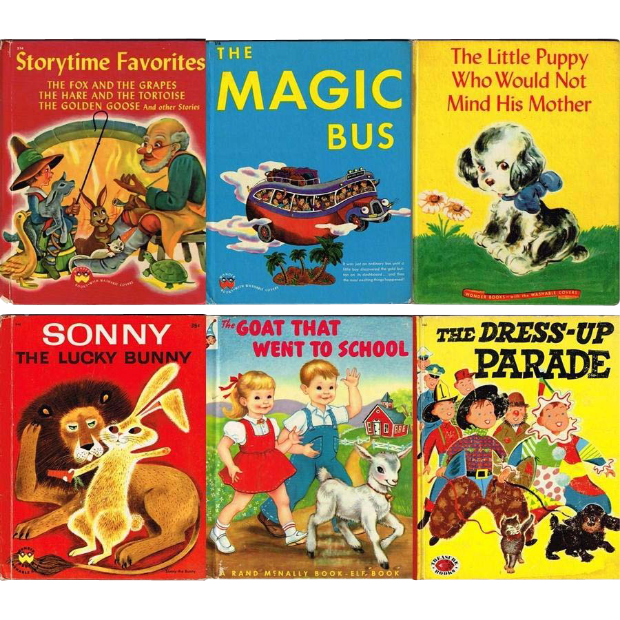 Six 1940's and 1950's Children's Books