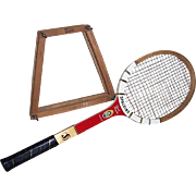 1950's-60's Pancho Gonzales Spalding Tennis Racket and Press