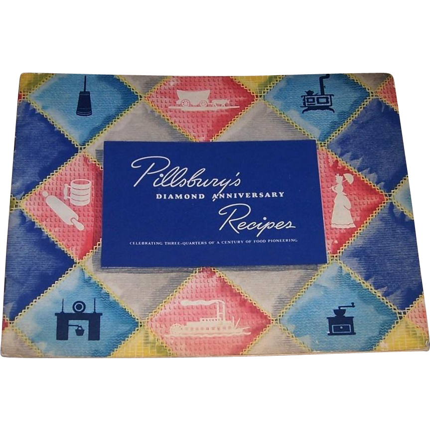 1944 Pillsbury's Diamond Anniversary Recipes Cookbook