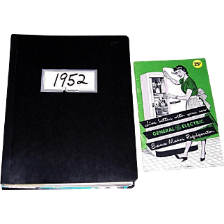 1952 General Electric Appliances Salesman's Manual and GE Space Maker Refrigerator Booklet