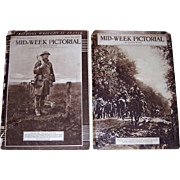 Nine WWI Era 1918/1919 Mid-Week Pictorial Newspapers