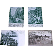 1905-1907 Vintage City Postcards, Jewish and Italian Neighborhoods NYC, Atlantic City NJ