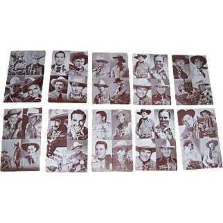 1950's Four Image Western Stars Penny Arcade Cards