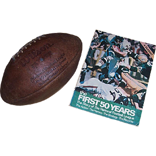 Wilson NFC-AFC Football and The First 50 Years--The Story of the NFL Book