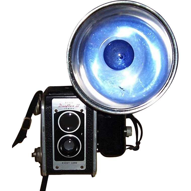 1960's Kodak-Duaflex III Camera & Kodalite Flashholder Lumaclad Reflector
