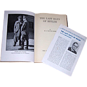 1947 The Last Days of Hitler by H.R. Trevor-Roper, Limited Edition