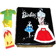 1962 Barbie Ponytail Case and Three Barbie Fashions from 1959, 1967, 1968