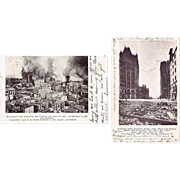 Two 1906 San Francisco Earthquake and Fire Postcards