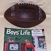 Bloomsburg University Wilson Football and 1955 Boy's Life Magazine