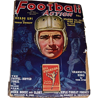 1939 Football Action Magazine and 1930's All American Matchbox