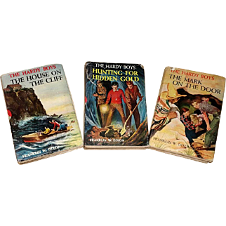 Three 1950's Classic Hardy Boys Mystery Novels