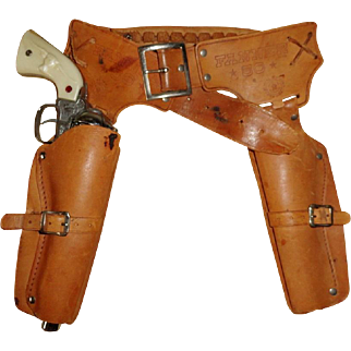 Mattel Fanner 50 Double Holster & Nichols Stallion 45 Cap Gun