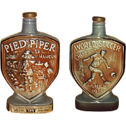 1974 World Soccer Championship Munich 1974 Jim Beam Liquor Bottle