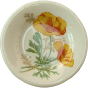 AT&SF Santa Fe Railroad China California Poppy Butter Pat