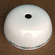 """St. Louis San Francisco RR """"Thistle"""" Pattern China Toast / Hot Food Cover"""