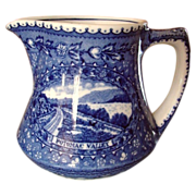 "Baltimore & Ohio RR ""Centenary"" Blue Line China Cream Pitcher"