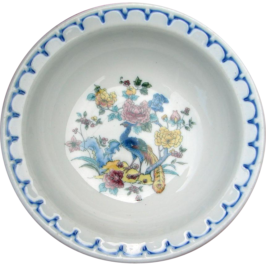 "CMStP&P Railroad China Milwaukee Road ""Peacock"" 5-inch Sauce Dish or Berry Bowl"