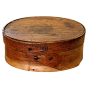 Tiny One-Finger Wooden Shaker Oval Box