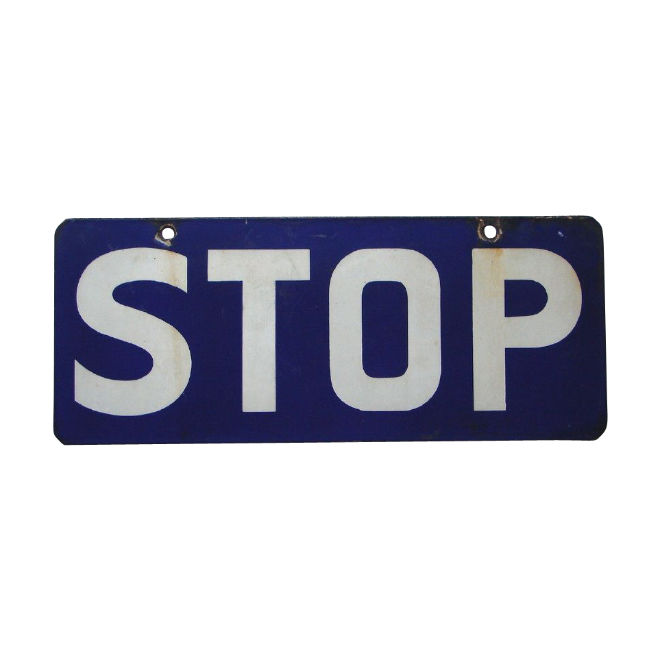 "Porcelain on Steel ""STOP"" Railroad Safety Signal Warning  Sign"