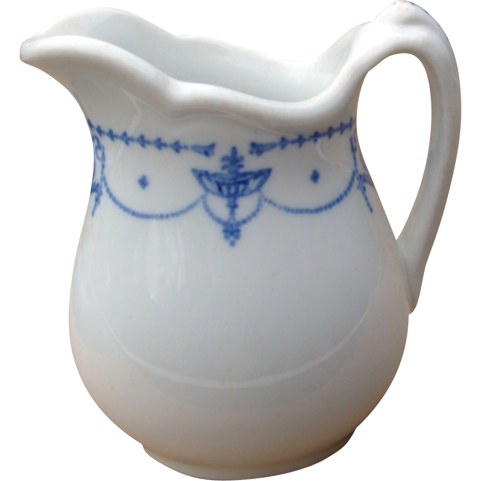 "Denver & Rio Grande Western Railroad China ""Blue Adam"" Pitcher"