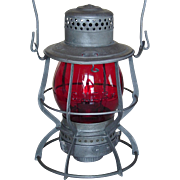 Central New England Railway Tall Globe Red Cast Keystone Casey CNERY Railroad Lantern