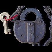 Vintage Boston & Maine Railroad Brass Key and Switch Lock Set B&MRR