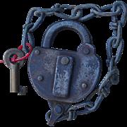 Vintage circa 1930 Boston & Maine Railroad Brass Key and Switch Lock Set by Bohannan