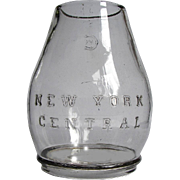 Antique New York Central Railroad Dietz No. 6 Clear Cast Lantern Globe