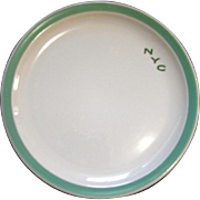 New York Central Railroad Green Pacemaker Large Dinner Plate