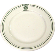 Poland Springs Restaurantware China Plate Railroad Related