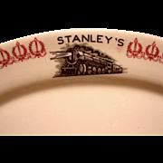 Stanley's Texas & Pacific Railroad Restaurant Platter