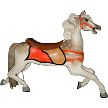 Antique Scarce c. 1900 Antique C. W. Parker Abilene Full Size Carousel Horse Jumper - PRICE NEGOTIABLE