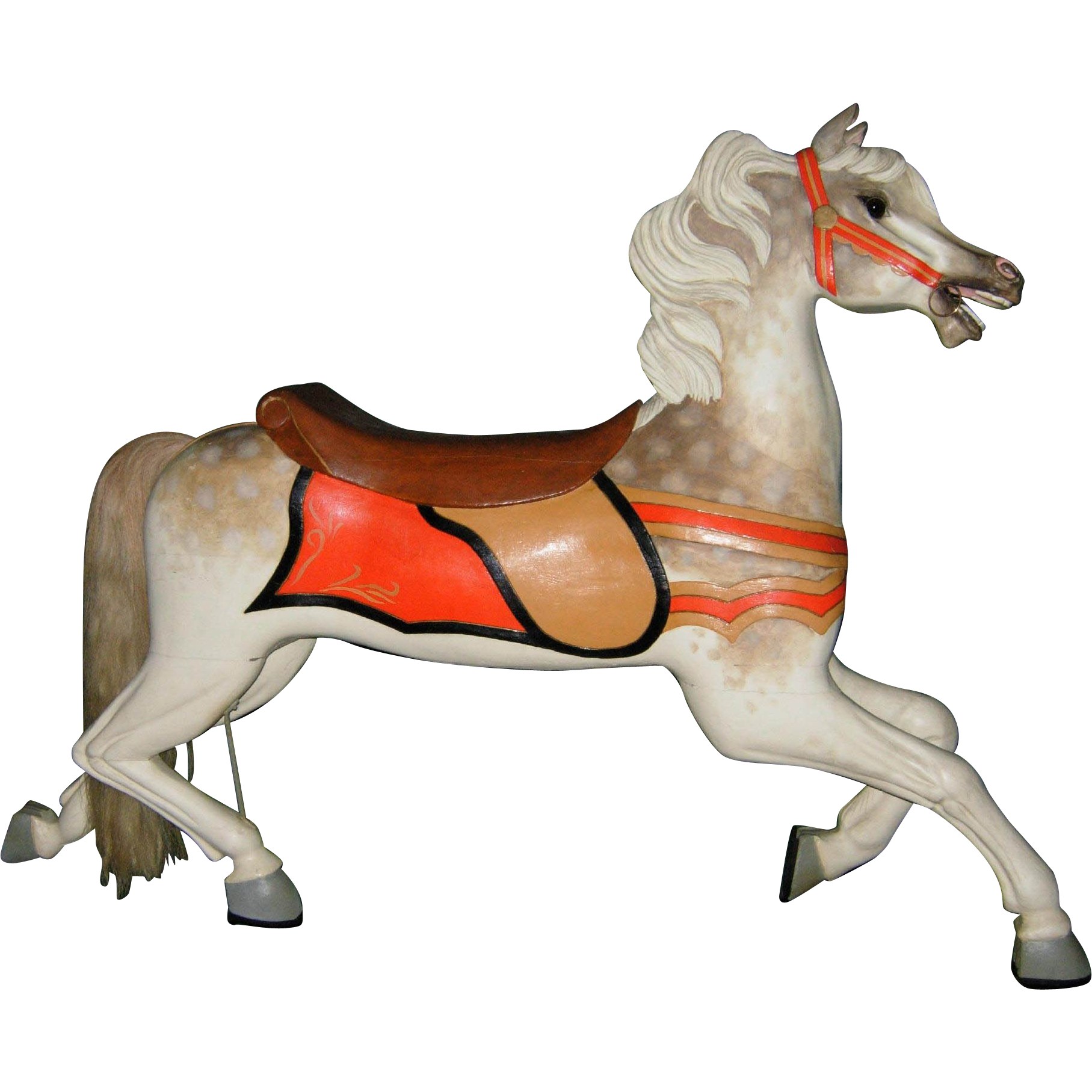 Scarce c. 1900 Antique C. W. Parker Abilene Carousel Horse Jumper - PRICE NEGOTIABLE