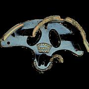 Antique Cast Iron Horse Harness Holder Wall Bracket, J. J. Ball Boston MASS