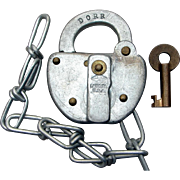 Delaware & Otsego Railroad Switch Lock & Key Set