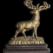 Early Albany (NY) Foundry 3/4 Body Stag Deer Cast Iron Doorstop