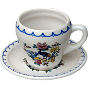 Milaukee Road Railroad China Peacock Cup & Saucer Set