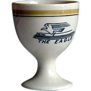 Missouri Pacific Railroad Tiny Eagle Pattern China Single Egg Cup