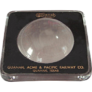 Vintage Vintage Quanah, Acme & Pacific Railway Magnifier QA&P Railroad Desk Magnifying Glass