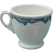 Union Pacific Railroad China Harriman Blue Footed Cup