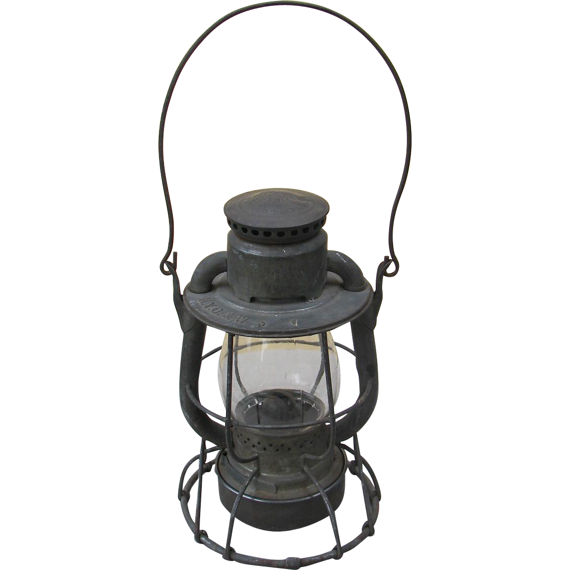 Vintage New York Ontario & Western Railroad Dietz Vesta High Top Lantern NYO&WRR Railway