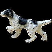Hubley English Setter Dog Miniature Cast Iron Paperweight